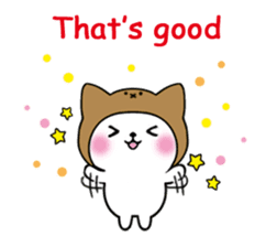 Cute cat of the hat (ENG.ver) sticker #7847909