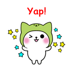 Cute cat of the hat (ENG.ver) sticker #7847910