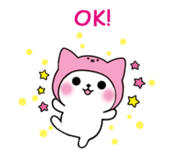 Cute cat of the hat (ENG.ver) sticker #7847918