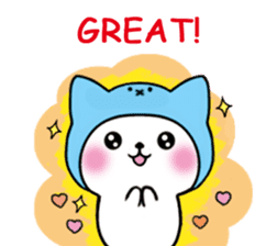 Cute cat of the hat (ENG.ver) sticker #7847923