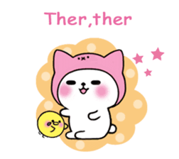 Cute cat of the hat (ENG.ver) sticker #7847926