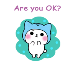 Cute cat of the hat (ENG.ver) sticker #7847927