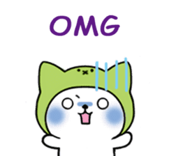 Cute cat of the hat (ENG.ver) sticker #7847928