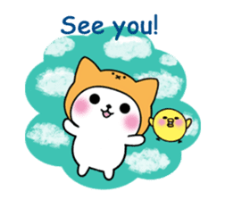 Cute cat of the hat (ENG.ver) sticker #7847931
