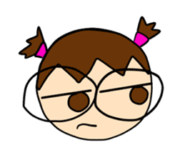 Point of View: The Glasses Girl sticker #7848813