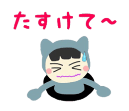 Colorful cat of Niko-chan sticker #7851148