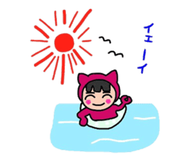Colorful cat of Niko-chan sticker #7851169