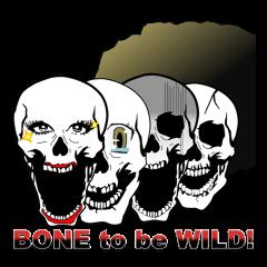 骨社会でドクロのコスプレbone to be wild!