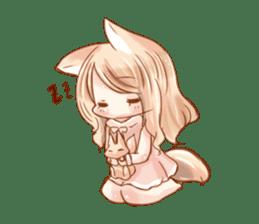 little fox daily sticker #7862340