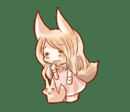 little fox daily sticker #7862366