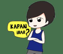 Boso Walikan Kera Ngalam sticker #7867252
