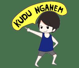 Boso Walikan Kera Ngalam sticker #7867255