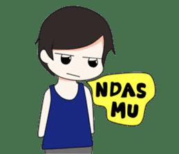 Boso Walikan Kera Ngalam sticker #7867288