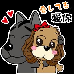Taiwan dog & Cocker Spaniel~Love Story