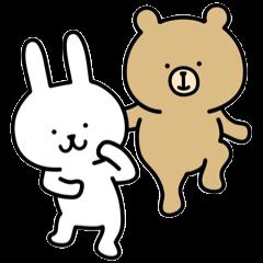 Rabbit and bear sticker2