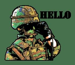 Combat soldier Ver.English sticker #7899428