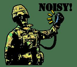 Combat soldier Ver.English sticker #7899430