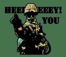Combat soldier Ver.English sticker #7899435