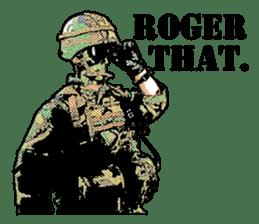 Combat soldier Ver.English sticker #7899438