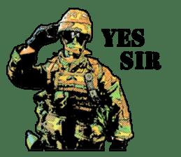 Combat soldier Ver.English sticker #7899440