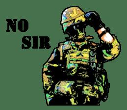 Combat soldier Ver.English sticker #7899441