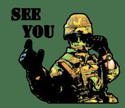 Combat soldier Ver.English sticker #7899442