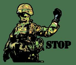 Combat soldier Ver.English sticker #7899444