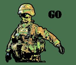 Combat soldier Ver.English sticker #7899446