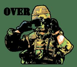 Combat soldier Ver.English sticker #7899455
