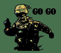 Combat soldier Ver.English sticker #7899458