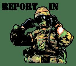 Combat soldier Ver.English sticker #7899460