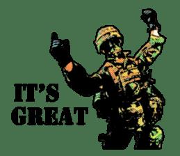 Combat soldier Ver.English sticker #7899462