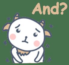 My cute goat sticker #7907818