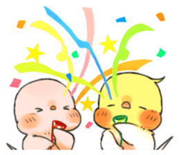 Okame-kun & pink-chan Vol.2 sticker #7915637