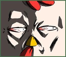 Super Dramatic Chicken sticker #7916462