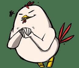 Super Dramatic Chicken sticker #7916476