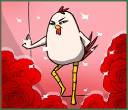 Super Dramatic Chicken sticker #7916479