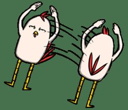Super Dramatic Chicken sticker #7916487