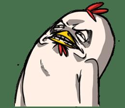 Super Dramatic Chicken sticker #7916495