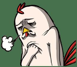 Super Dramatic Chicken sticker #7916496