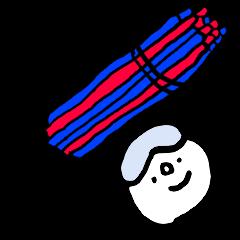 Alpine skiing sticker