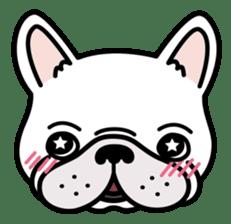 French bulldog Gomaco and Hana 2 English sticker #7923700