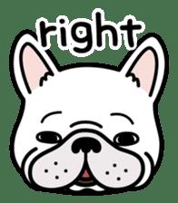 French bulldog Gomaco and Hana 2 English sticker #7923701