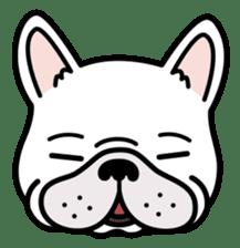 French bulldog Gomaco and Hana 2 English sticker #7923703