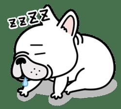 French bulldog Gomaco and Hana 2 English sticker #7923705