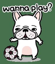 French bulldog Gomaco and Hana 2 English sticker #7923707