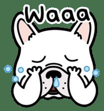 French bulldog Gomaco and Hana 2 English sticker #7923708