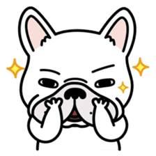 French bulldog Gomaco and Hana 2 English sticker #7923709