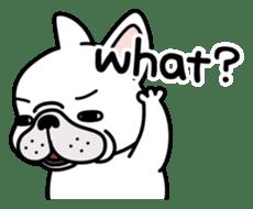 French bulldog Gomaco and Hana 2 English sticker #7923710