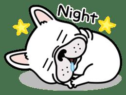 French bulldog Gomaco and Hana 2 English sticker #7923712